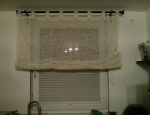 Plissee Gardine Küchenfenster
