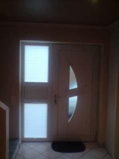 Plissee-Tür nachher